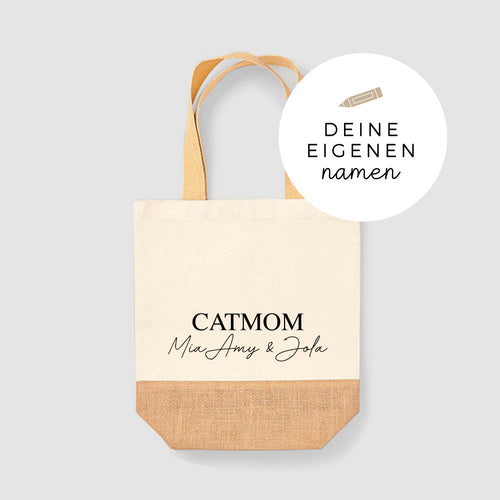 Jute Shopper | handwritten | catmom