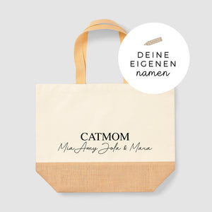 Jute Shopper XXL | handwritten | catmom