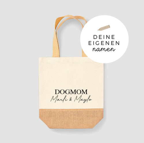 Jute Shopper | handwritten | dogmom