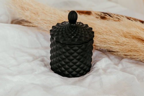 Baby Geo Jar Candle | MATTE BLACK