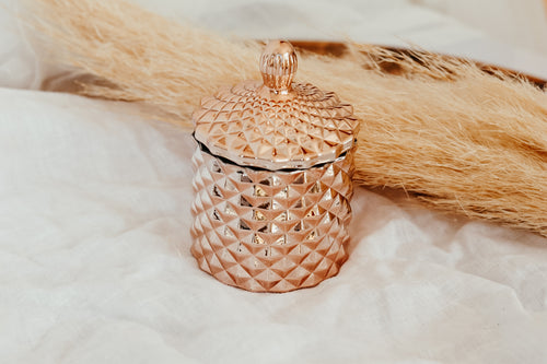 Baby Geo Jar Candle | ROSE GOLD