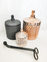 Load image into Gallery viewer, Luxe Candle Pack 3 - Black/Rose Gold