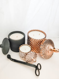 Luxe Candle Pack 3 - Black/Rose Gold