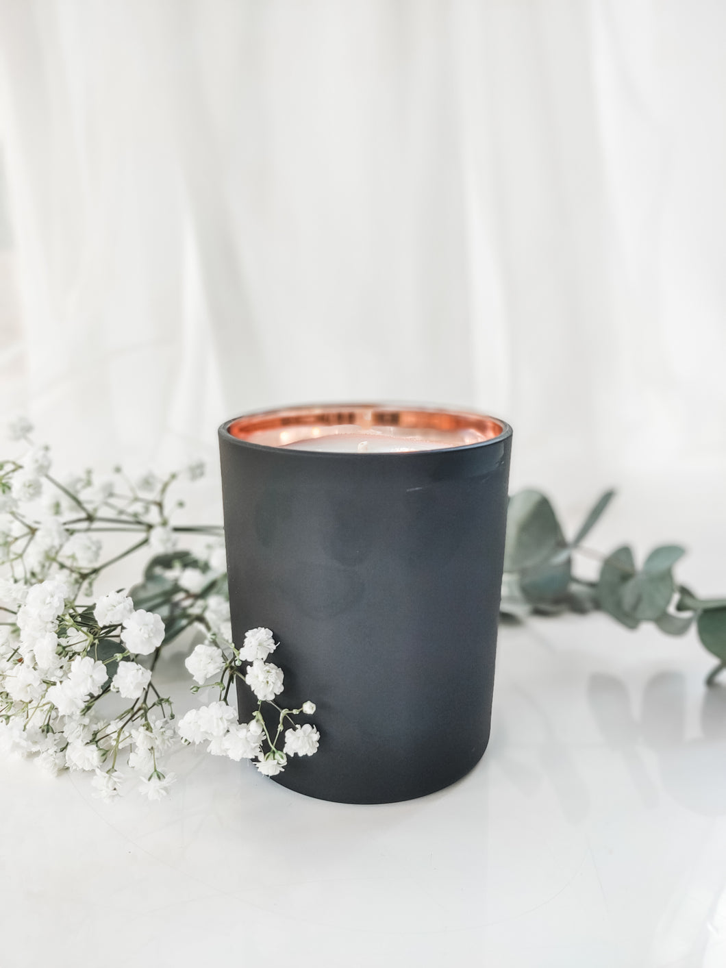 Lila Matte Jar Candle | BLACK & ROSE GOLD