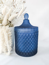 Load image into Gallery viewer, Geo Jar Candle | MATTE NAVY