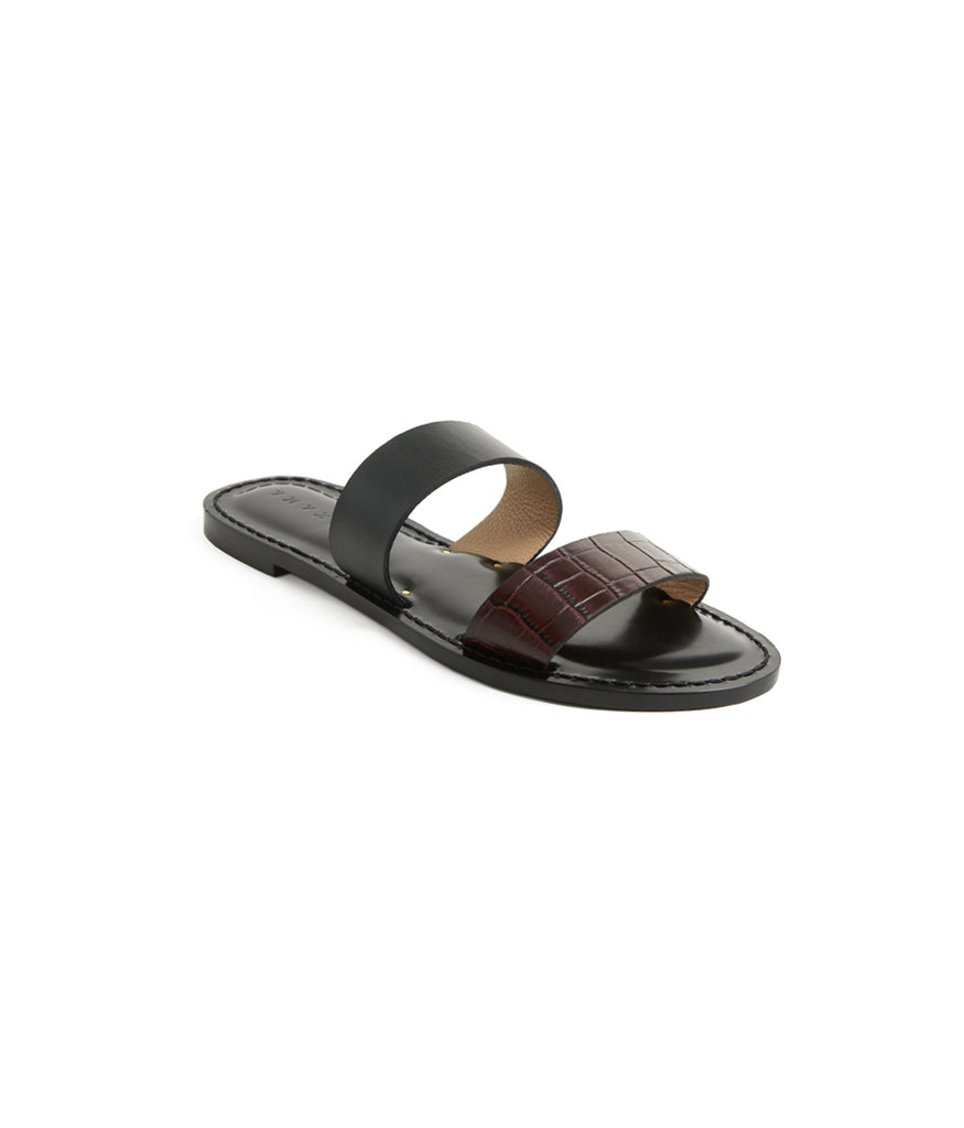 Load image into Gallery viewer, Style 02 / Burgundy Croc / Black
