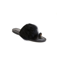 Load image into Gallery viewer, Style 06 / Black Suede / Feathers