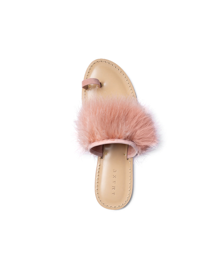 Load image into Gallery viewer, Style 06 / Pink Suede / Feathers