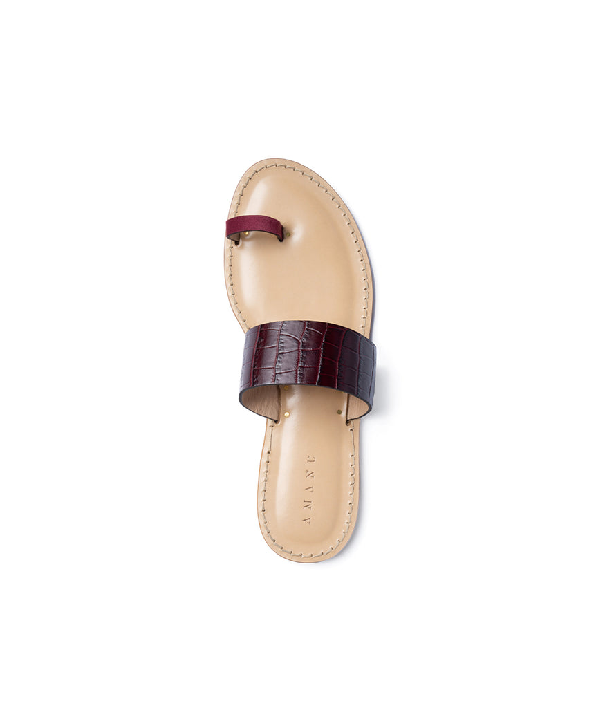 Load image into Gallery viewer, Style 06 / Burgundy Croc / Wine Suede