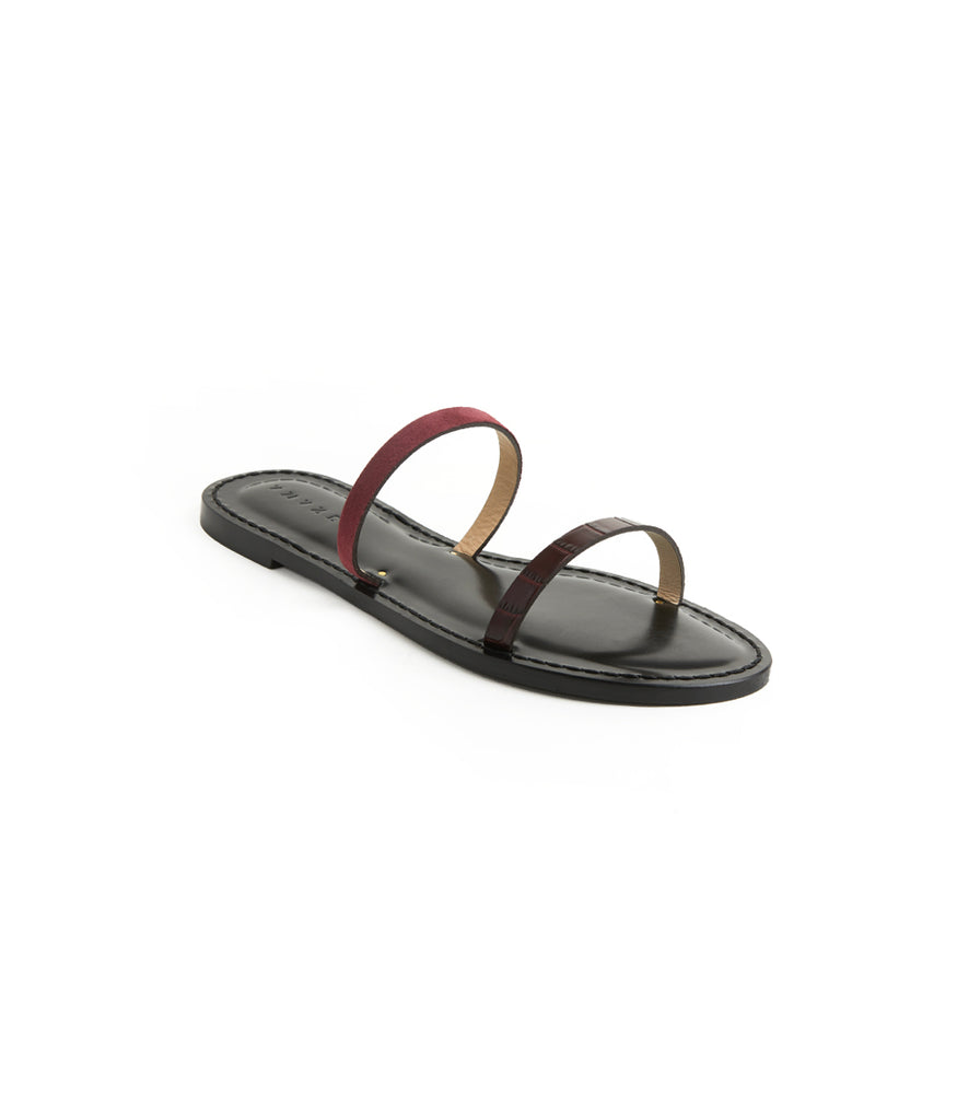 Load image into Gallery viewer, Style 11 / Burgundy Croc / Plum Suede