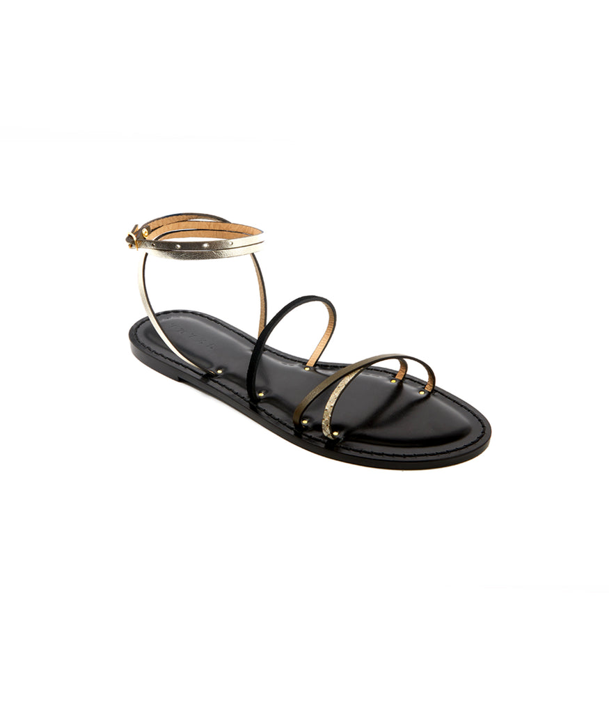 Load image into Gallery viewer, Style 12 / Olive / Stone Python / Black Suede / Metallic Silver