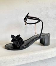 Load image into Gallery viewer, Black Ruffles + Black Suede | Black Heel