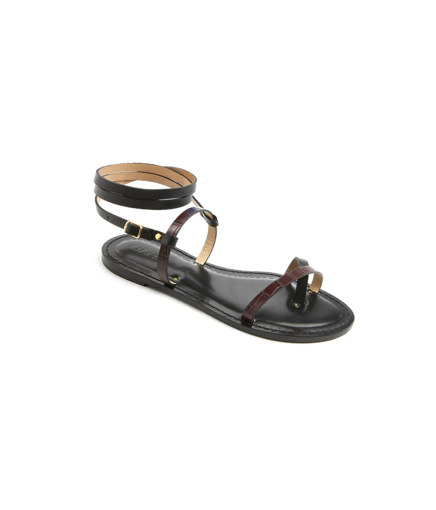 Load image into Gallery viewer, Style 16 / Black / Burgundy Croc