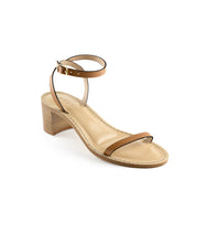 Load image into Gallery viewer, Style 18 | Cognac Leather | Nude Heel