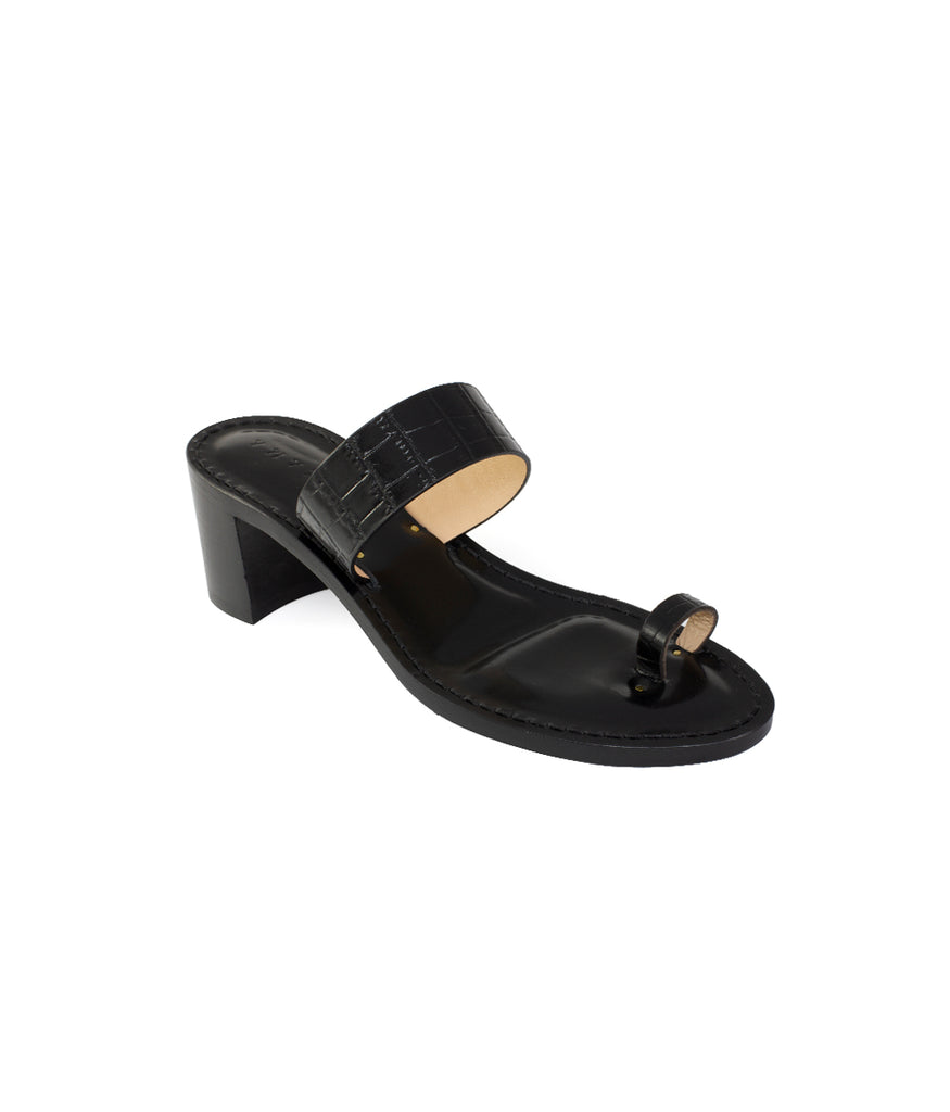 Load image into Gallery viewer, Style 19 | Black Croc | Black Heel