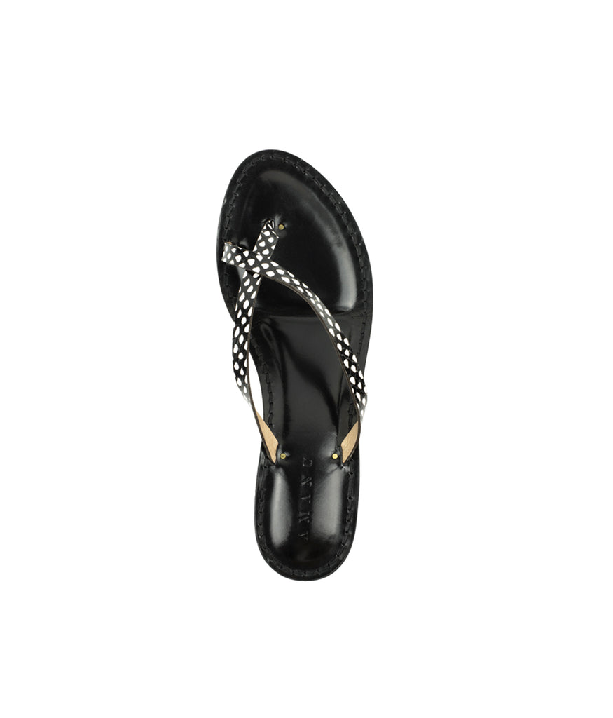 Load image into Gallery viewer, Style 21 | Polka Dot Python | Black Heel