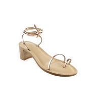 Load image into Gallery viewer, Style 22 | Metallic Rose Gold | Nude Heel