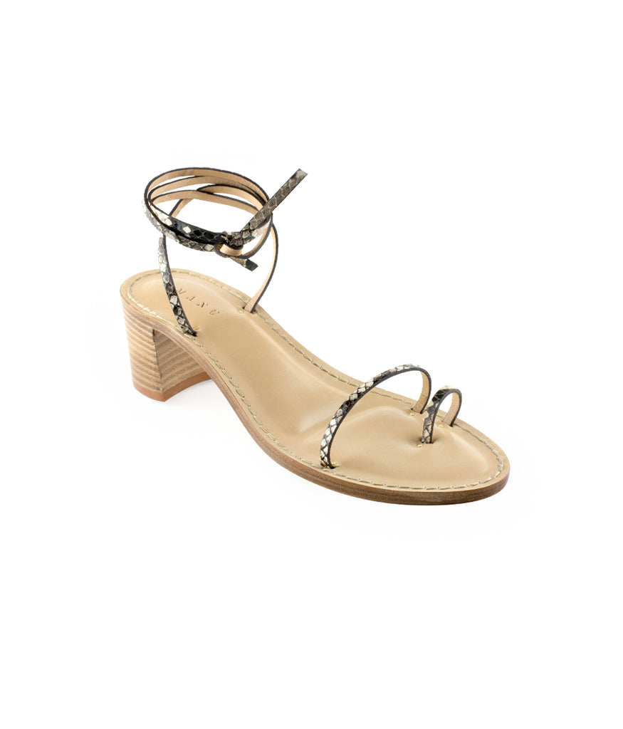 Load image into Gallery viewer, Style 22 | Stone Python | Nude Heel