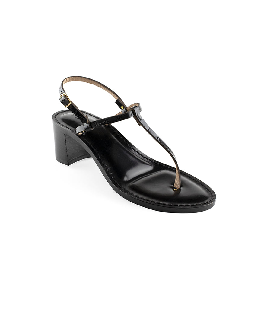 Load image into Gallery viewer, Style 23 | Black Croc | Black Heel