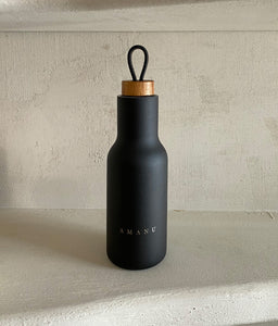 AMANU Water Bottle, Black