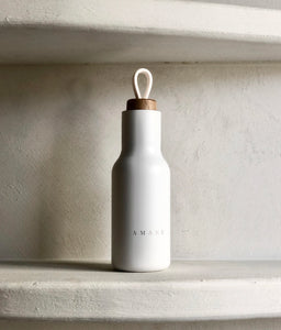 AMANU Water Bottle, White