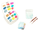 Watercolor Travel Palette and supplies