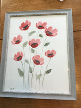 Load image into Gallery viewer, Original Watercolor Poppy Painting 11x14