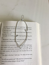 Load image into Gallery viewer, Handmade feather bookmark hammered wire place keeper