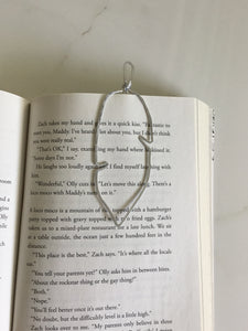 Handmade feather bookmark hammered wire place keeper