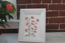 Load image into Gallery viewer, Customizable original watercolor painting florals with pointed pen outline - you choose the colors and size!