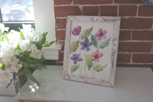 Load image into Gallery viewer, Vibrant floral original watercolor artwork, unique handmade decor for the home