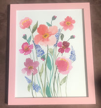 Load image into Gallery viewer, Large Pink Floral Original Watercolor Painting
