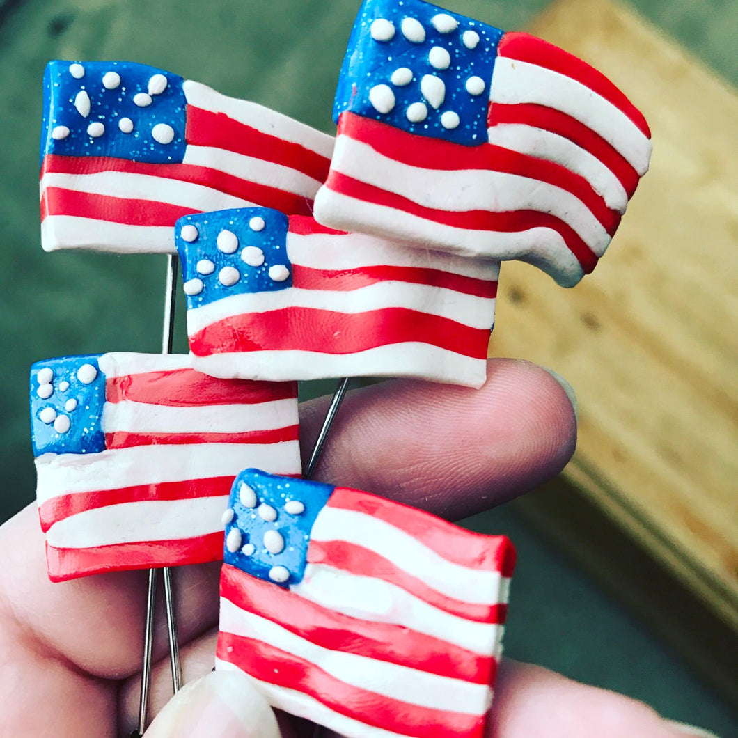 US flag pin brooch hat pins (5 pack)