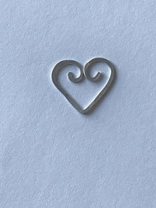 Heart shaped wire paperclips/bookmarks handmade