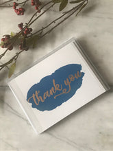 Load image into Gallery viewer, Greeting Card Set (5) thank you cards handmade