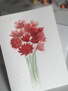 Original Watercolor Card 5x7