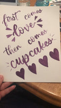 Load image into Gallery viewer, Custom Wedding Sign and cupcake signs