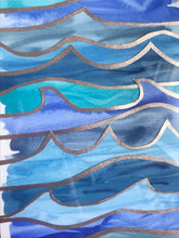 Load image into Gallery viewer, Ocean Wave Collage 1 - Original Watercolor Painting