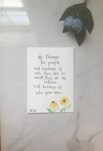 "Kindness quote original watercolor painting 5""x7"""