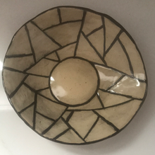 Load image into Gallery viewer, Handmade shallow bowl/plate with fun abstract pattern