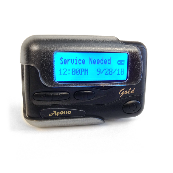 Text Message Display Pager by Apollo (Model Gold AL-A25)