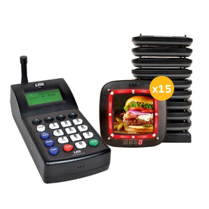 Guest Pager System Kits with 15-60 Note Pro Pagers and 7470 Transmitter by Long Range Systems