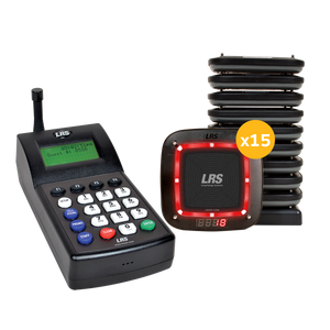 Guest Pager System Kit with 15 Pro Pagers and 7470 Transmitter by Long Range Systems