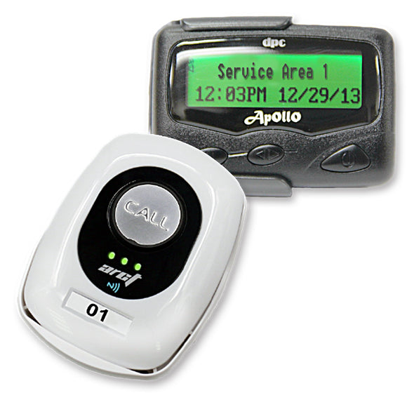 Push-for-Service Pager System Kit with 1 Pagers and Butler XP Transmitter by Long Range Systems