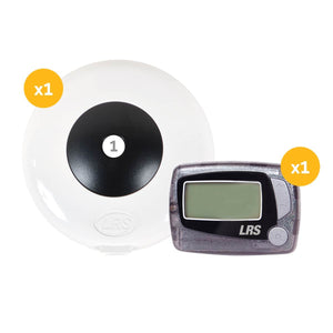 Push-for-Service Pager System Kit with 1 Pager and PRONTO 1-Button Transmitter by Long Range Systems