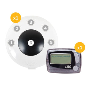 Push-for-Service Pager System Kit with 1 Pager and PRONTO 6-Button Transmitter by Long Range Systems