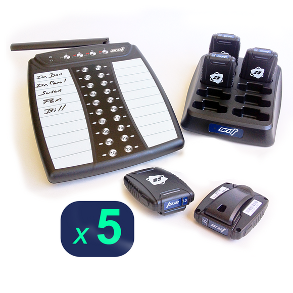 Staff Pager System Kit with 5 Pagers by ARCT