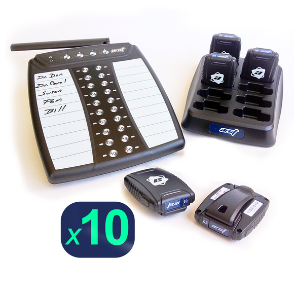 Staff Pager System Kit with 10 Pagers by ARCT