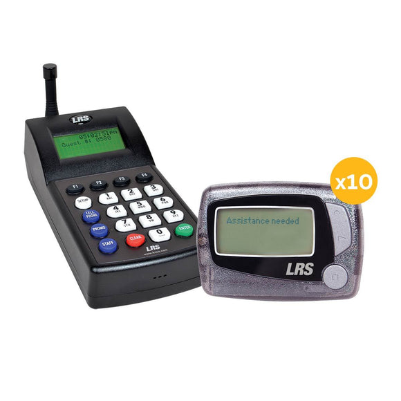 Staff Messaging Pager System Kit with 10 Alpha Pagers by Long Range Systems