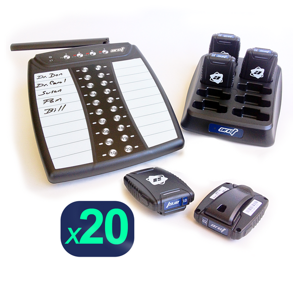 Staff Pager System Kit with 20 Pagers by ARCT